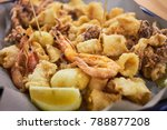 a typical italian dish fried... | Shutterstock . vector #788877208