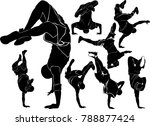 collection silhouettes...   Shutterstock .eps vector #788877424