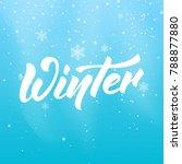 winter. seasonal banner with... | Shutterstock .eps vector #788877880