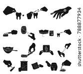 manipulation by hands black...   Shutterstock .eps vector #788877934