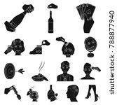 manipulation by hands black...   Shutterstock .eps vector #788877940