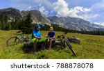 tourist cycling in cortina d...   Shutterstock . vector #788878078