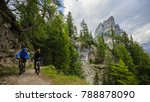 tourist cycling in cortina d... | Shutterstock . vector #788878090
