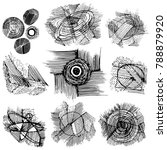 grungy artistic elements. set...   Shutterstock .eps vector #788879920