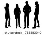 vector silhouettes of men and... | Shutterstock .eps vector #788883040