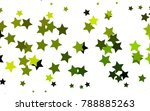 dark green  yellow vector cover ... | Shutterstock .eps vector #788885263