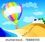 balloon with sign over the sea  ...   Shutterstock .eps vector #78888550