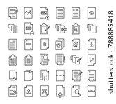 modern outline style document...   Shutterstock .eps vector #788889418