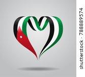 jordanian flag heart shaped... | Shutterstock . vector #788889574