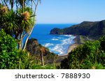 View Of A West Coast Beach In...