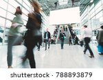 blurred people in a modern hall | Shutterstock . vector #788893879
