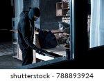 professional burglar. violent...   Shutterstock . vector #788893924
