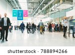 blurred people in a modern hall | Shutterstock . vector #788894266