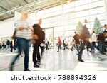blurred people in a modern hall | Shutterstock . vector #788894326