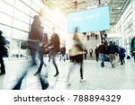 blurred people in a modern hall | Shutterstock . vector #788894329