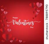 valentine's day illustration of ... | Shutterstock .eps vector #788895790