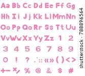 set of letters  numbers ... | Shutterstock .eps vector #788896564