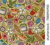 cartoon cute hand drawn spring... | Shutterstock .eps vector #788896900