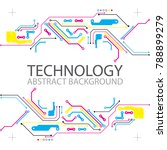 abstract technological... | Shutterstock .eps vector #788899279