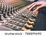 male sound engineer hands... | Shutterstock . vector #788899690