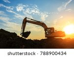 excavator working on... | Shutterstock . vector #788900434