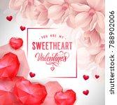 my sweetheart valentines... | Shutterstock .eps vector #788902006