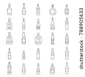 alcohol bottles line icons set. ... | Shutterstock .eps vector #788905633