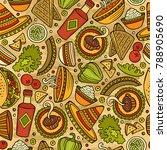 cartoon hand drawn latin... | Shutterstock .eps vector #788905690