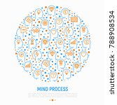 mind process concept in circle...   Shutterstock .eps vector #788908534