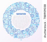 navigation and direction... | Shutterstock .eps vector #788909038