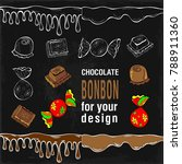 set of flat color chocolate... | Shutterstock .eps vector #788911360
