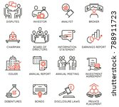 vector set of linear icons... | Shutterstock .eps vector #788911723