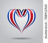 costa rican flag heart shaped... | Shutterstock . vector #788912560