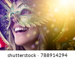 woman wearing carnival costume | Shutterstock . vector #788914294