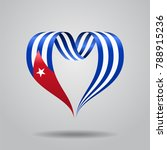 cuban flag heart shaped wavy... | Shutterstock . vector #788915236
