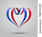 American Flag Heart Shaped Wav...