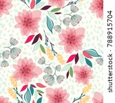 seamless floral pattern vector... | Shutterstock .eps vector #788915704