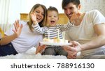 smiling family celebrating... | Shutterstock . vector #788916130
