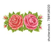 floral   background with roses  ... | Shutterstock .eps vector #788918020