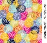 garden dreams. seamless pattern. | Shutterstock .eps vector #788921320