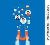 target market concept ... | Shutterstock .eps vector #788921593
