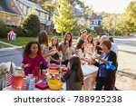neighbours helping themselves... | Shutterstock . vector #788925238