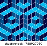 geometric cubes abstract... | Shutterstock .eps vector #788927050