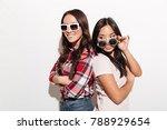 photo of two asian pretty cute... | Shutterstock . vector #788929654