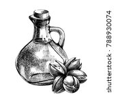 hand drawn bottle of oil and... | Shutterstock .eps vector #788930074