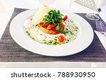 fine tart with confit tomato... | Shutterstock . vector #788930950
