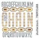 vector condensed  tall font.... | Shutterstock .eps vector #788931688