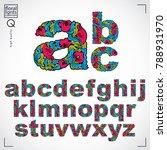 set of vector ornate lowercase... | Shutterstock .eps vector #788931970