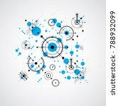 bauhaus art composition ... | Shutterstock .eps vector #788932099