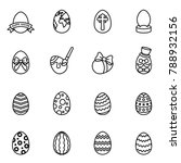 easter egg icon set with white... | Shutterstock .eps vector #788932156